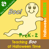 Teaching BOO at Halloween time FREEBIE
