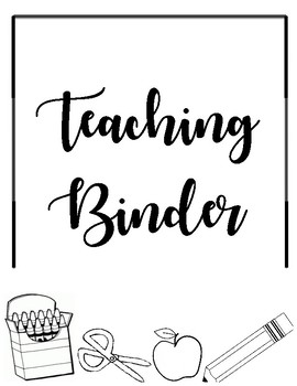Teaching Binder