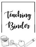Teaching Binder