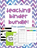 Teaching Binder Bundle