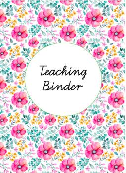 Teaching Binder Covers