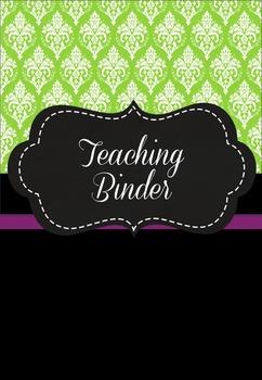 Teaching Binder - Damask