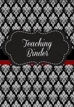 Teaching Binder - Damask B&W Australian Edition