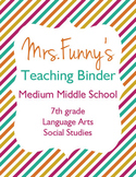 Teaching Binder Labels