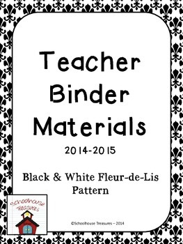 Teaching Binder Materials: Black & White Design