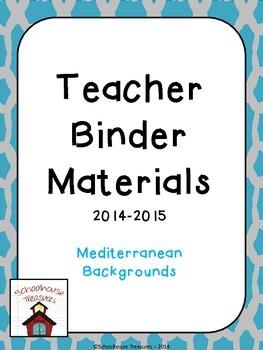 Teaching Binder: Mediterranean Design