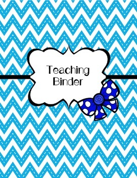 Teaching Binder (Student Teaching Binder)