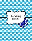 Teaching Binder (Student Teaching Binder)