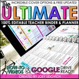 Editable Teacher Binder   Teacher Planner 2018-2019   FREE