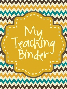 Teaching Binder cover pages