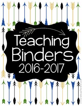 Teaching Binders 2016-2017