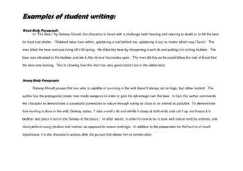 Teaching Body Paragraphs to Any High School Level