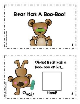 Teaching Body Parts: Bear Has a Boo-Boo Interactive book
