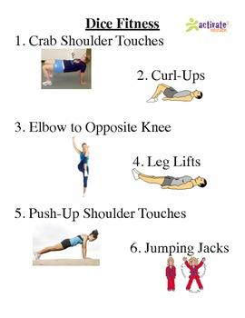 Teaching Bones in Physical Education: Skeletal Dice Fitness Exercise Sheet #1