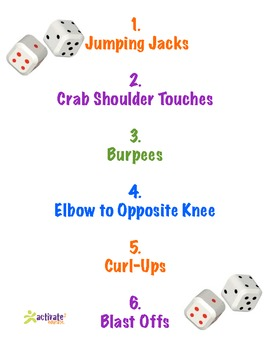 Teaching Bones in Physical Education: Skeletal Dice Fitness Exercise Sheet #2