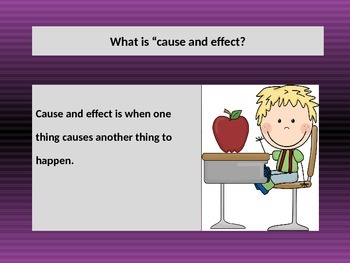 Teaching CAUSE and EFFECT with a POWERPOINT Presentation. Lesson.