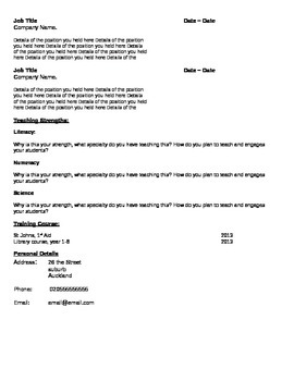 Teaching CV Template