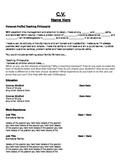 Teaching CV Template