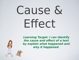 Teaching Cause and Effect