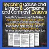 Cause and Effect / Compare and Contrast Essay Unit - Handouts and Lessons