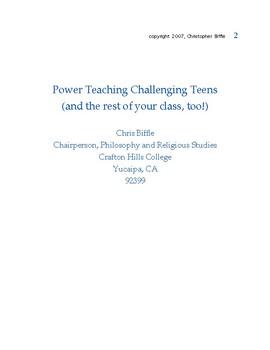 Teaching Challenging Teens