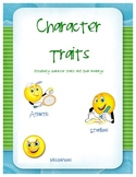 Teaching Character Trait Meanings w/ Quizzes and graphic o