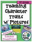 Teaching Character Traits with Pictures, 4th Grade word list
