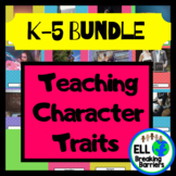 Teaching Character Traits with Pictures, BUNDLED K-5 word lists!