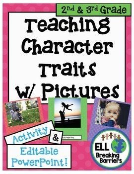 Teaching Character Traits with Pictures, 2nd and 3rd Grade word lists
