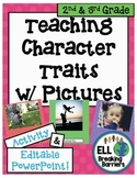 Distance Learning, Teaching Character Traits w/ Pictures,