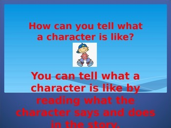Teaching Character or Characters with Power Point. Common Core