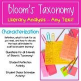 Teaching Characterization with Bloom's Taxonomy - Literary