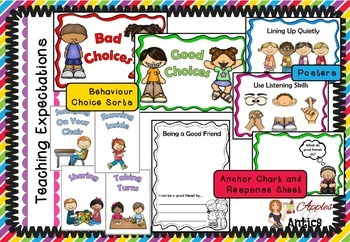 Teaching Class Rules / Expectations - Sorts, Posters and Activities