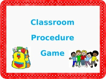 Teaching Classroom Procedures