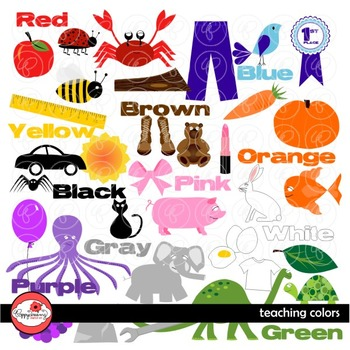Teaching Colors Clipart by Poppydreamz
