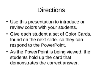 Teaching Colors PowerPoint