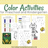 Teaching Colors Preschool Kindergarten Learning Pack