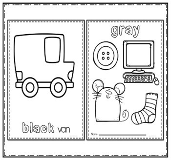 Teaching Colors Print and Go Activities