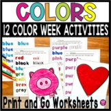 Teaching Colors Worksheets for Tracing Reading and Writing Color Words