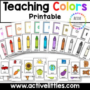 Teaching Colors Printable for Preschool and Kindergarten