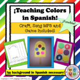 FREE Spanish Colors Craft, Song and Game!
