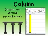 Teaching Column, Row, and Cell in Excel