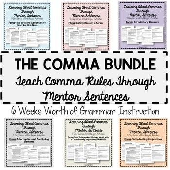 Teaching Commas Through Mentor Sentences: Six Weeks of Ins