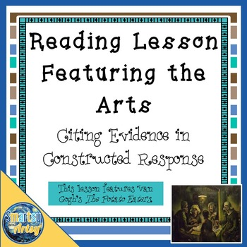Reading Lesson Plan Featuring the Arts Citing Evidence in