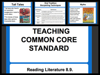 Teaching Common Core Reading Literature Standard RL.8.9.