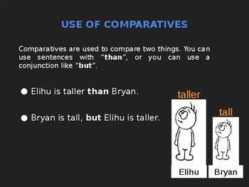 Teaching Comparative and Superlatives