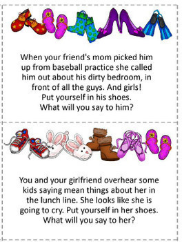 Teaching Compassion & Appropriate Social Responses - Task Cards