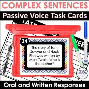 Teaching Complex Sentences: Passive Voice Listening Comprehension Cards