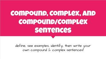 Teaching Compound Complex Sentences