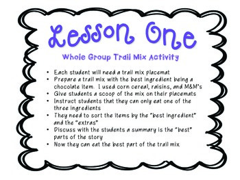 Teaching Comprehension- Summarizing Trail Mix